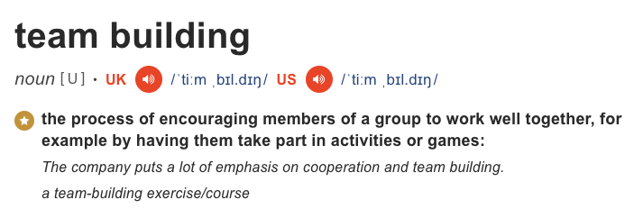 team building activity activities definition teambuilding