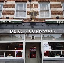 duke of cornwall pub quiz night